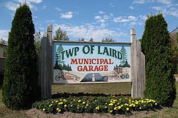 Photo of Laird Township Municipal Garage signage