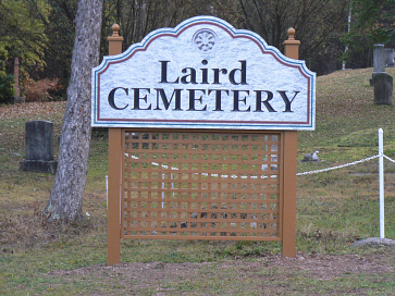 Photo of Laird Cemetery signage