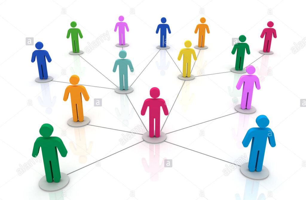People connections graphics