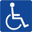 Graphic of a blue disability sign