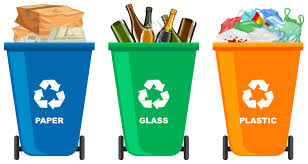 Graphic of 3 recycling bins