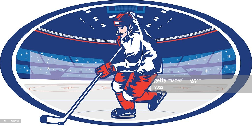 Hockey player graphic