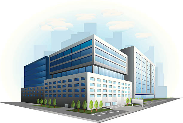 Graphic of a an office building