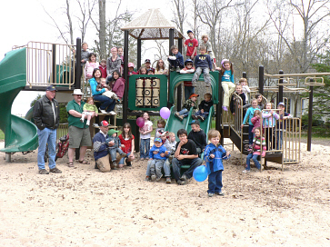Photo of Centennial Park playground with people
