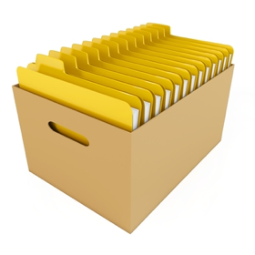 Graphic of file in a cardboard box