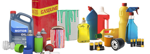 Image of hazardous waste items
