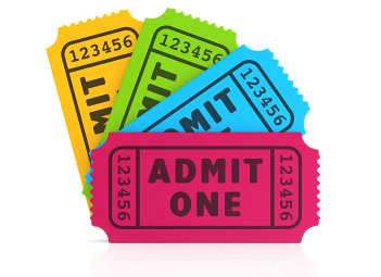 Event tickets graphic